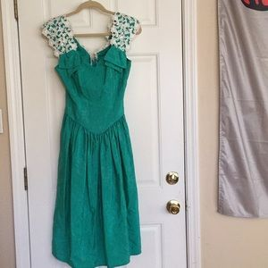Vintage teal Alfred Angelo Dress